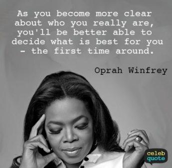Oprah on life